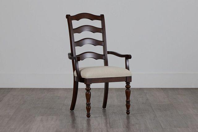 Savannah Dark Tone Wood Arm Chair (2)