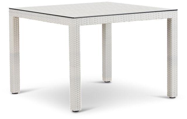 """Bahia White 40"""" Square Table (3)"""