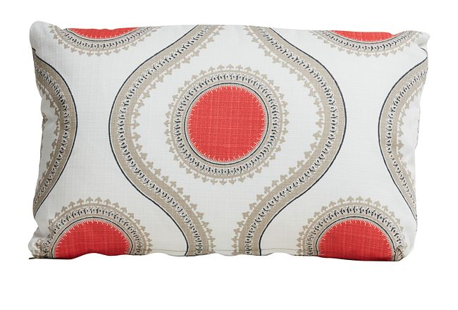 Susette Coral Lumbar Indoor/outdoor Accent Pillow
