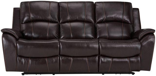 Memphis Dark Brown Lthr/vinyl Power Reclining Sofa (0)