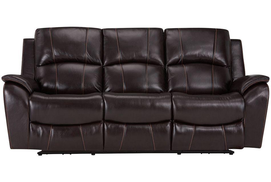 Memphis Dark Brown Lthr/vinyl Power Reclining Sofa