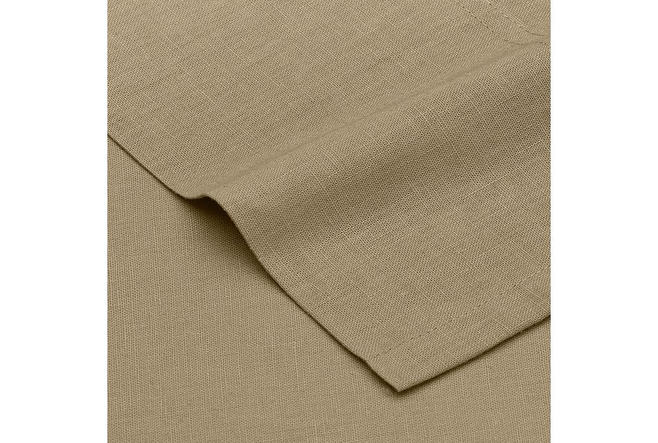 Linen Blend Khaki Sheet Set