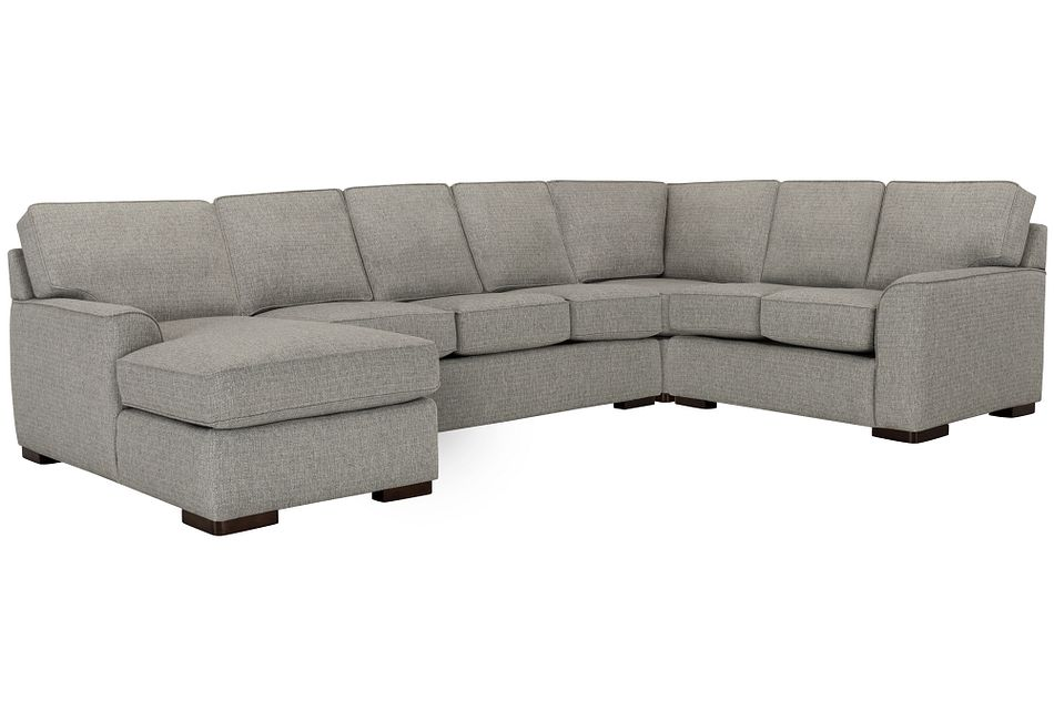 Austin Gray Fabric Left Chaise Memory Foam Sleeper Sectional