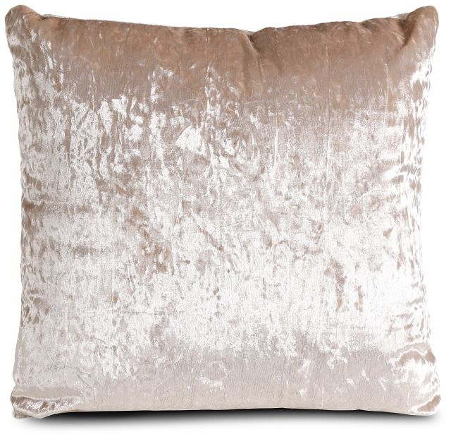 "Ethereal Light Pink Velvet 20"" Accent Pillow (1)"