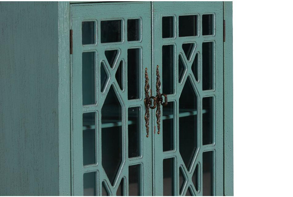 Alexis Teal Two-door Cabinet