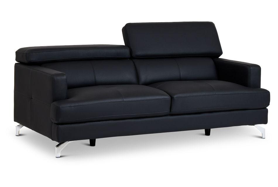 Marquez Black Micro Sofa