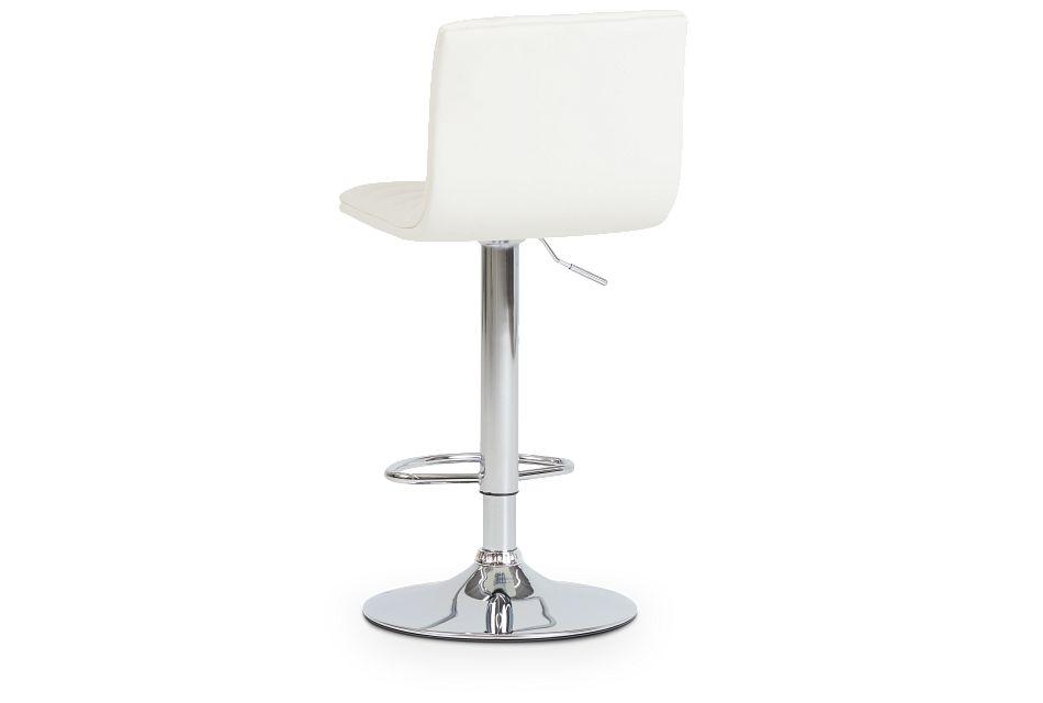 Motivo White Uph Adjustable Stool