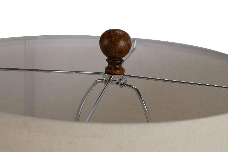 Gina Brown Polyresin Table Lamp