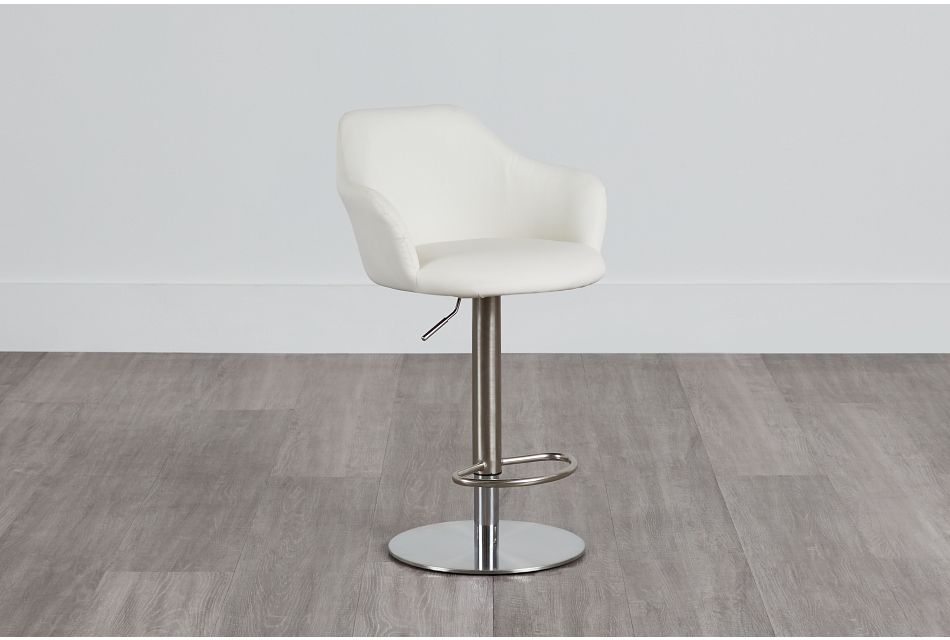 Hyde White Uph Adjustable Stool