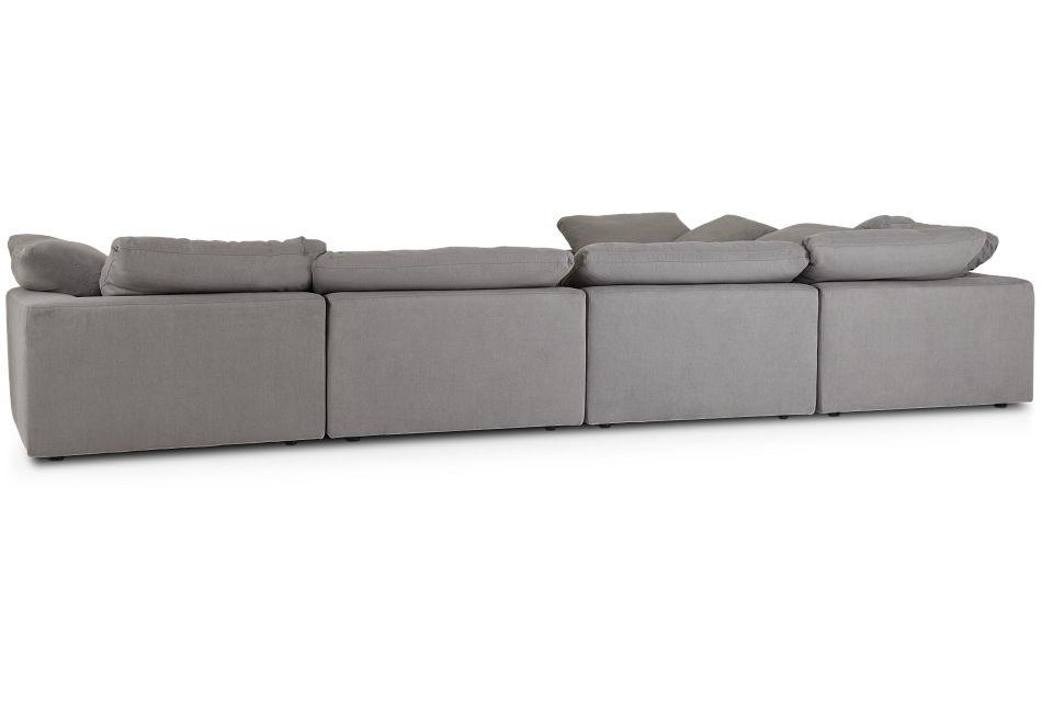 Nixon Light Gray Fabric 6-piece Modular Sectional
