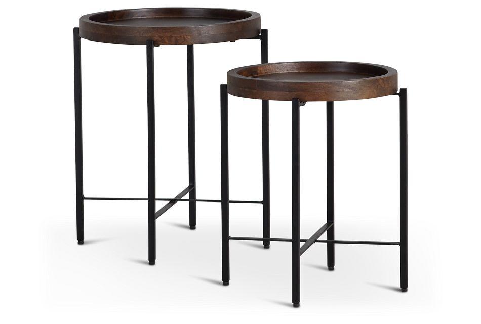 Crue Dark Tone Set Of 2 Nesting Tables,  (1)