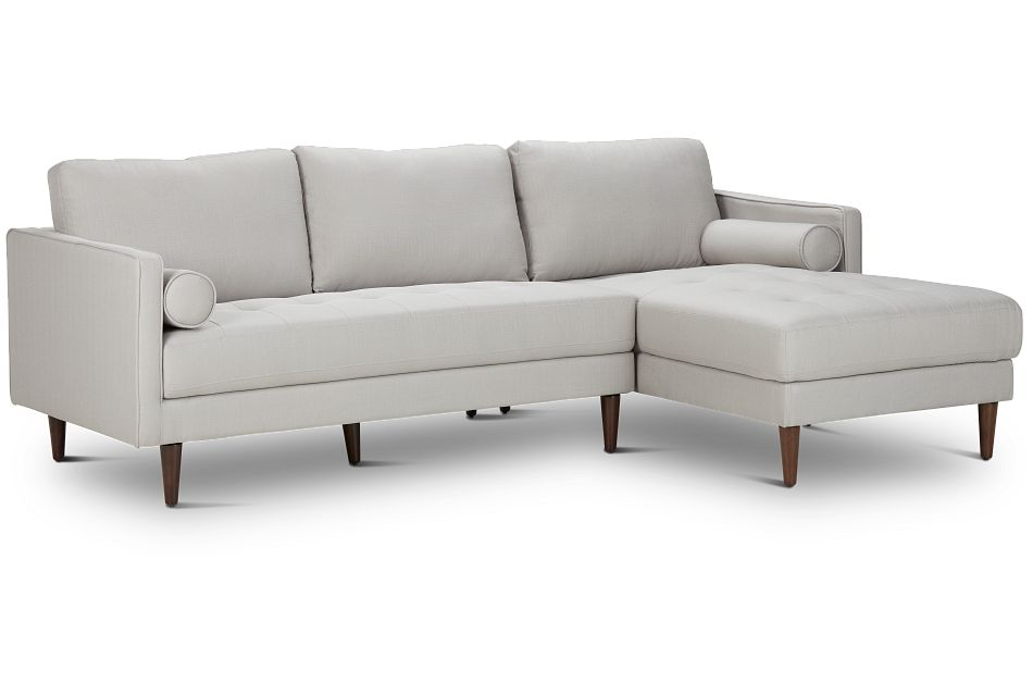 Rue Light Beige FABRIC Right Chaise Sectional,  (2)
