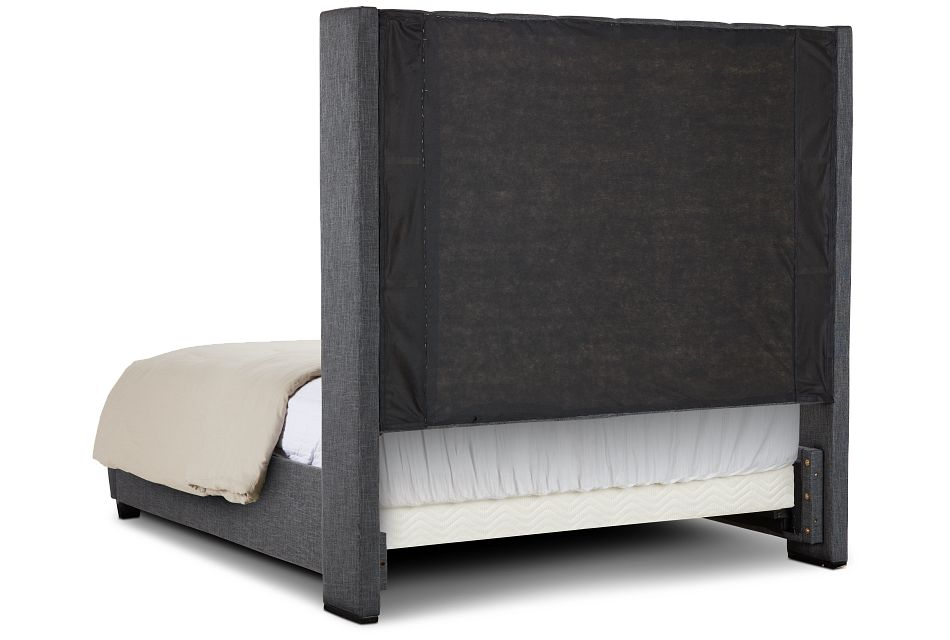 Chatham Dark Gray High Platform Bed