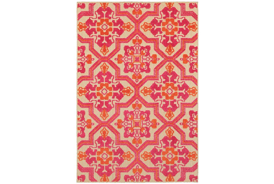 Cayman Pink Indoor/outdoor 8x11 Area Rug