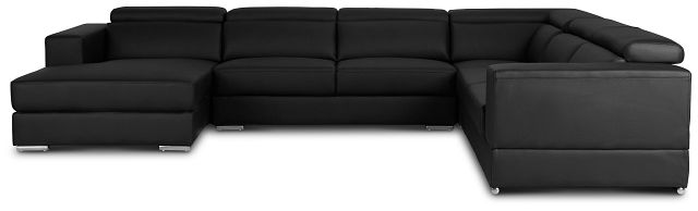 Maxwell Black Micro Large Left Chaise Sectional (3)