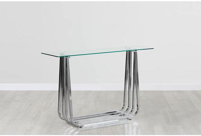 Rachel Glass Console Table