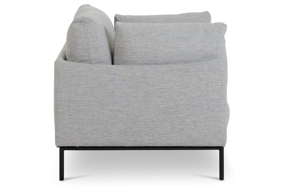 Oliver Light Gray Fabric Chair,  (2)