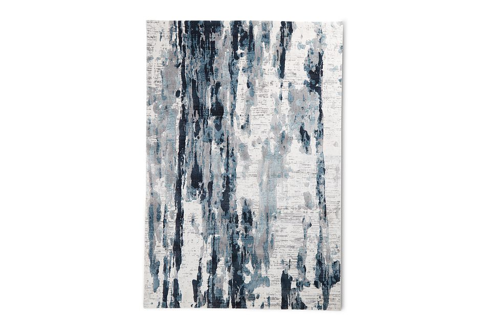 Palma Dark Blue 8x10 Area Rug