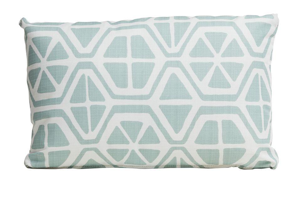 Aiden Light Blue Lumbar Indoor/outdoor Accent Pillow