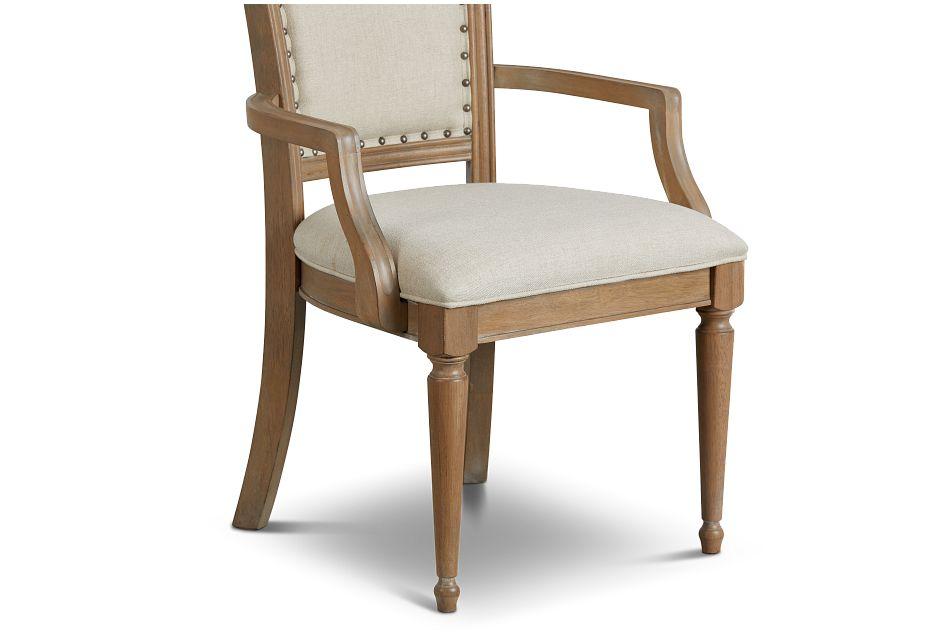 Haddie Light Tone Wood Arm Chair