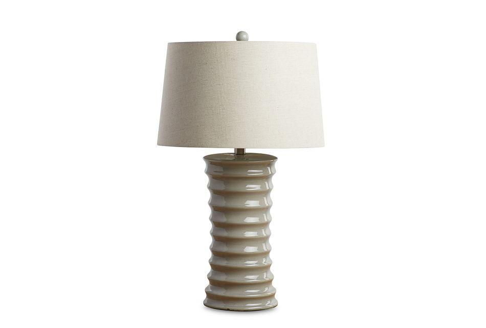 Cara Light Gray Table Lamp