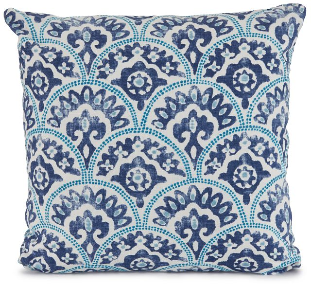 """Tomini Blue Fabric 18"""" Accent Pillow (2)"""