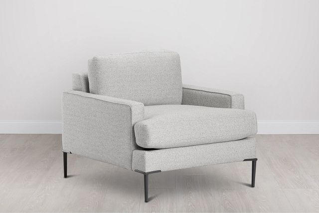 Morgan Light Gray Fabric Chair With Metal Legs (0)