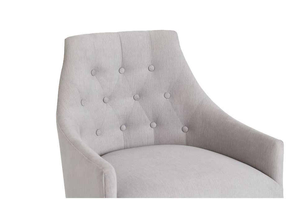 Newport Gray Metal Upholstered Desk Chair