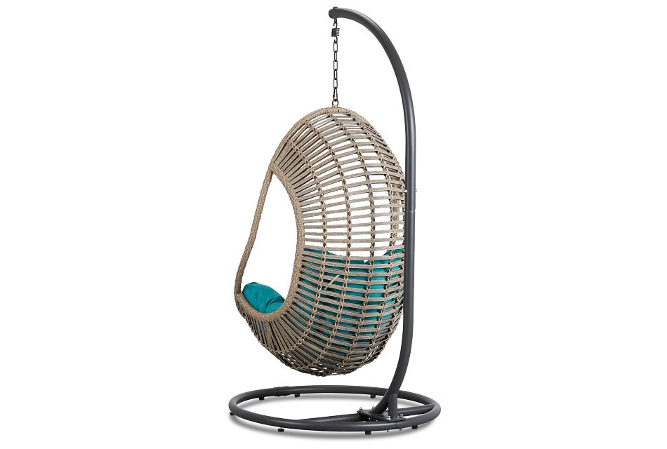 Cali Dark Teal Hanging Chair