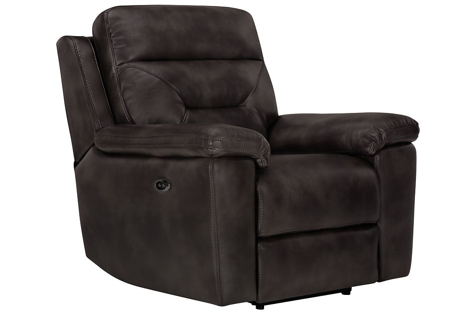 Phoenix Dark Gray  Micro Power Recliner