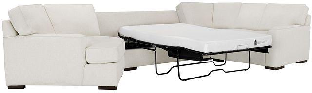Austin White Fabric Left Cuddler Memory Foam Sleeper Sectional (2)