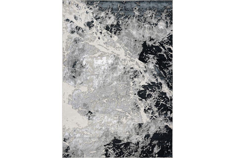 Frenzy Silver 8x10 Area Rug