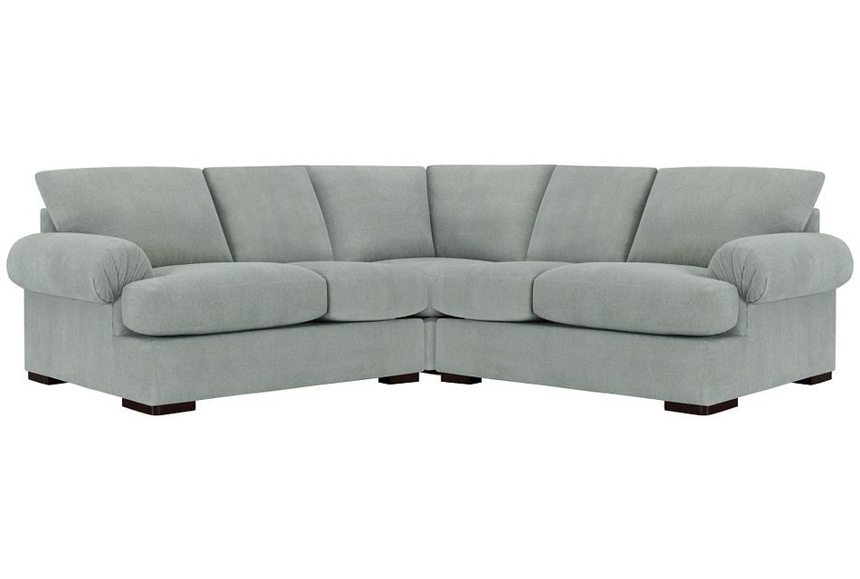 Belair Light Blue  FABRIC Small Two-Arm Sectional
