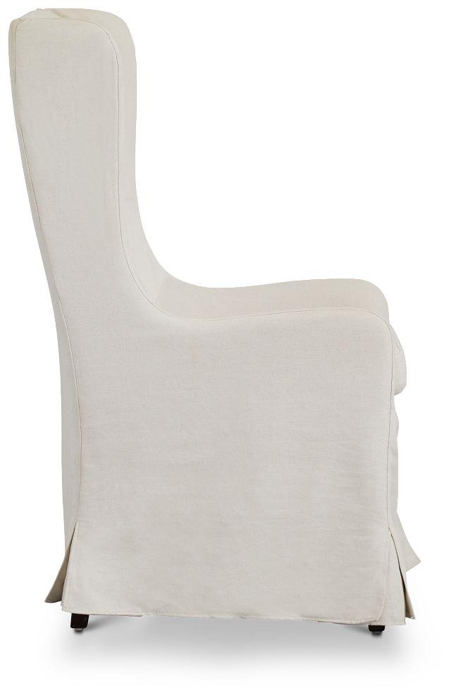 Savannah Beige Uph Skirted Arm Chair (2)