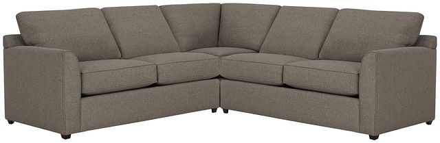 Asheville Brown Fabric Two-arm Left Innerspring Sleeper Sectional (2)