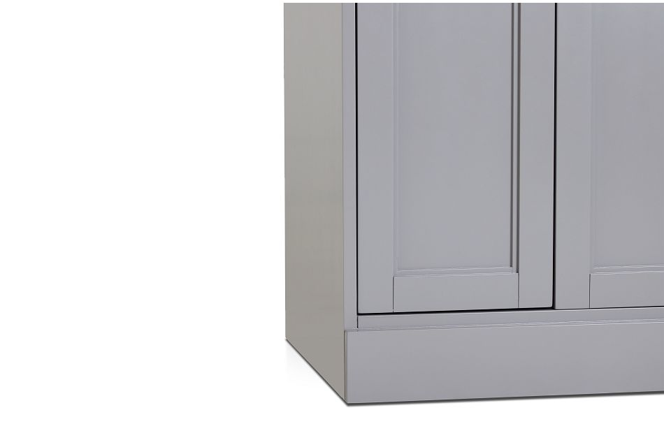 Newport Gray Door Cabinet