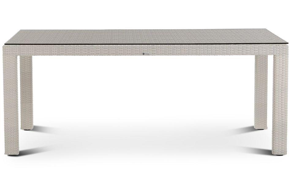 """Bahia White 72"""" Rectangular Table"""
