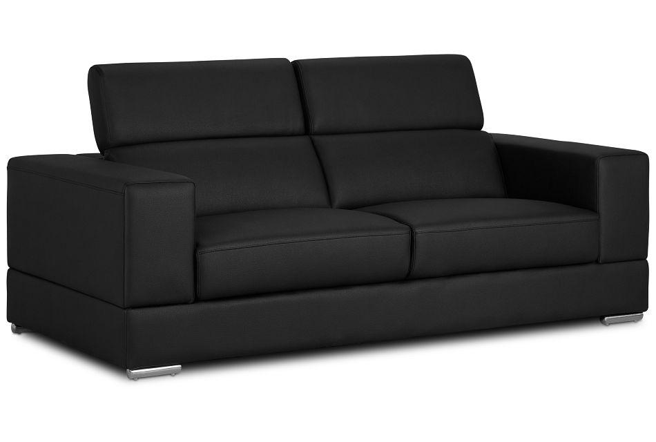 Maxwell Black Micro Sofa