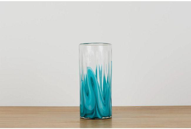 Lia Teal Medium Vase