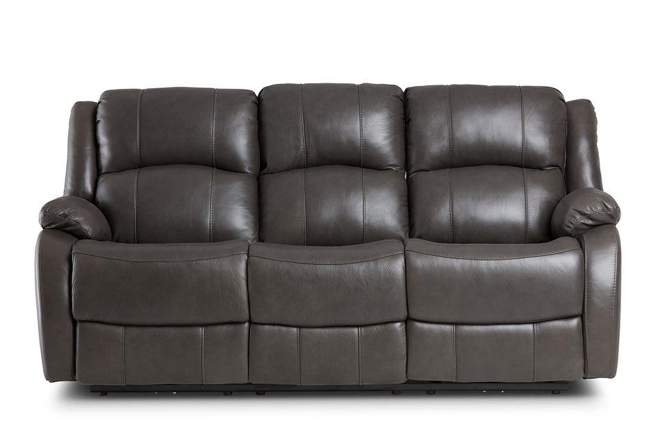 Dalton Dark Gray Lthr/vinyl Power Reclining Sofa