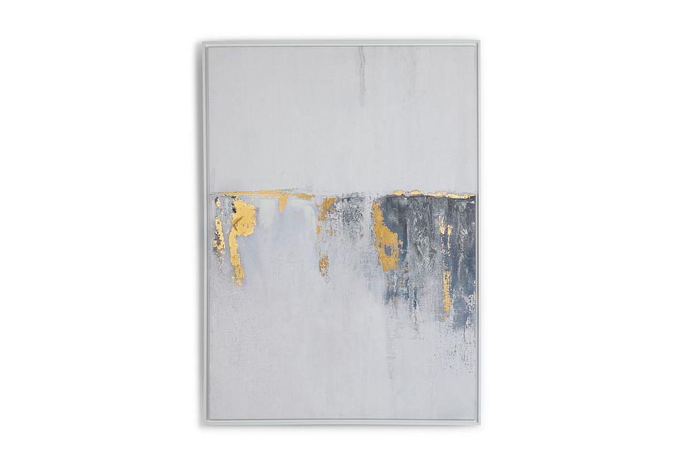 Virgo Gray Framed Canvas Wall Art