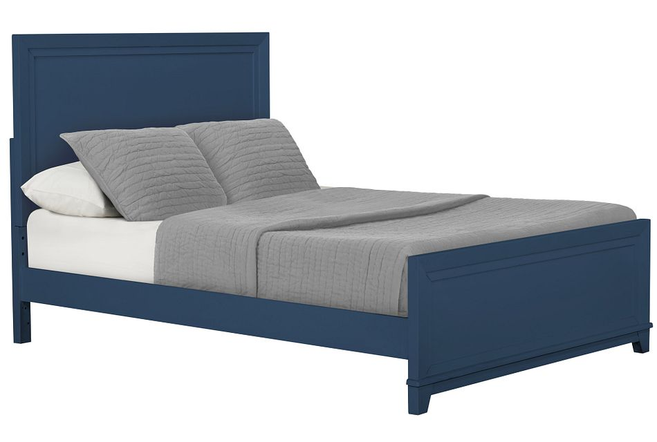 Ryder Dark Blue Panel Bed