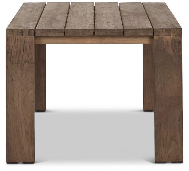 "Linear Teak 70"" Rectangular Table (2)"