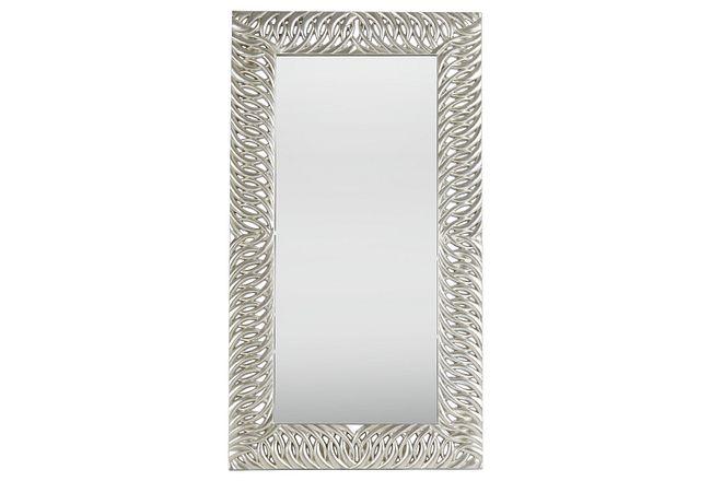 Bayou Silver Floor Mirror