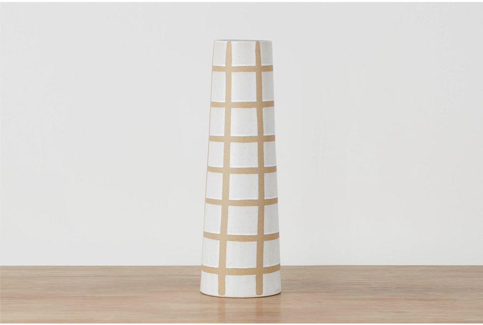 Makara Light Beige Tall Vase