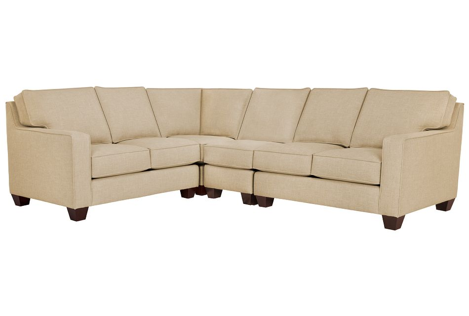 York Beige Fabric Large Two-arm Sectional