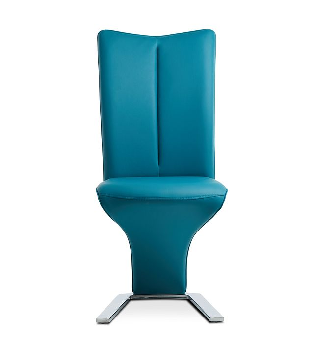 Catalina Teal Upholstered Side Chair (3)