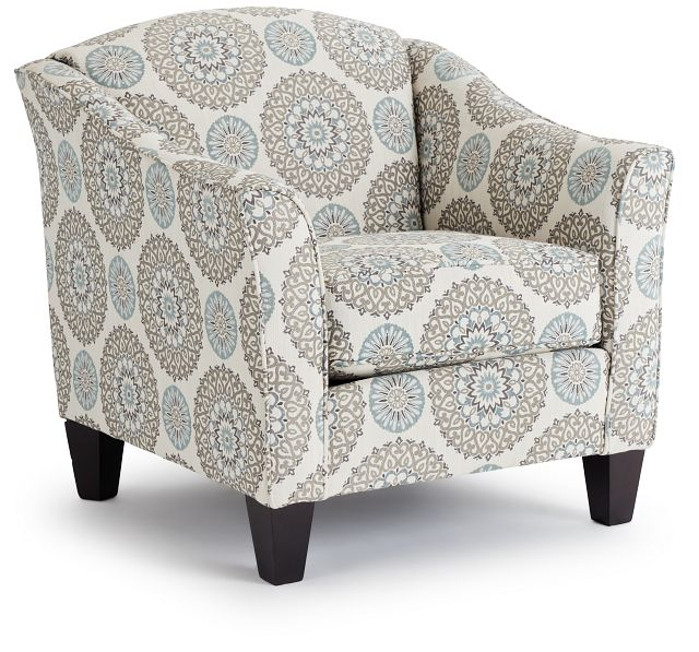 Meadow Multicolored Fabric Accent Chair (1)