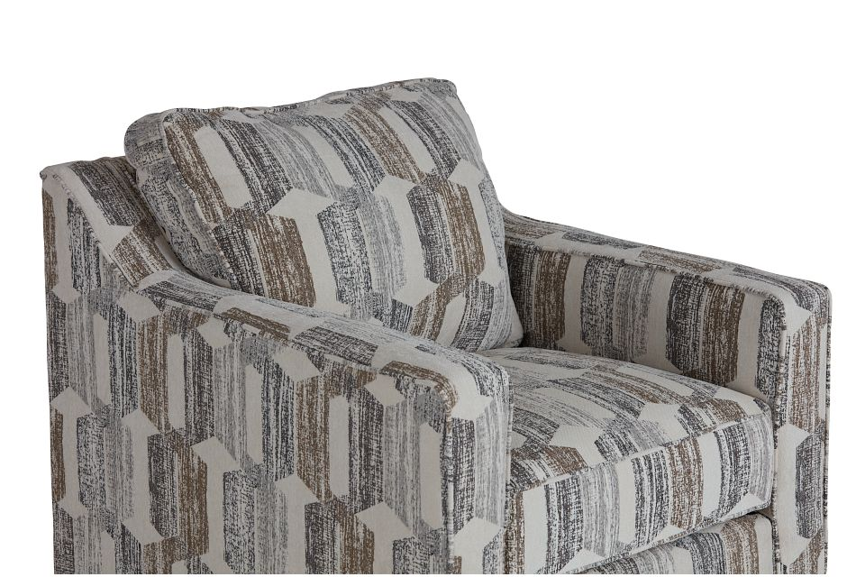 Millie Gray Fabric Swivel Accent Chair