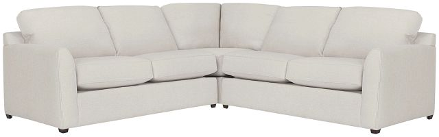 Asheville Light Taupe Cool Mfoam Two-arm Right Memory Foam Sleeper Sectional (0)